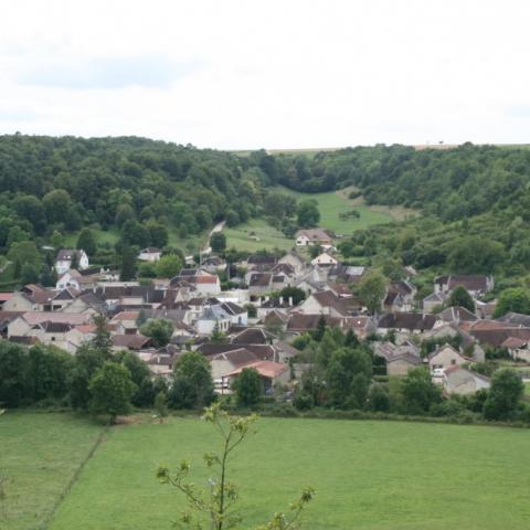 Vue village Spoy août 2013